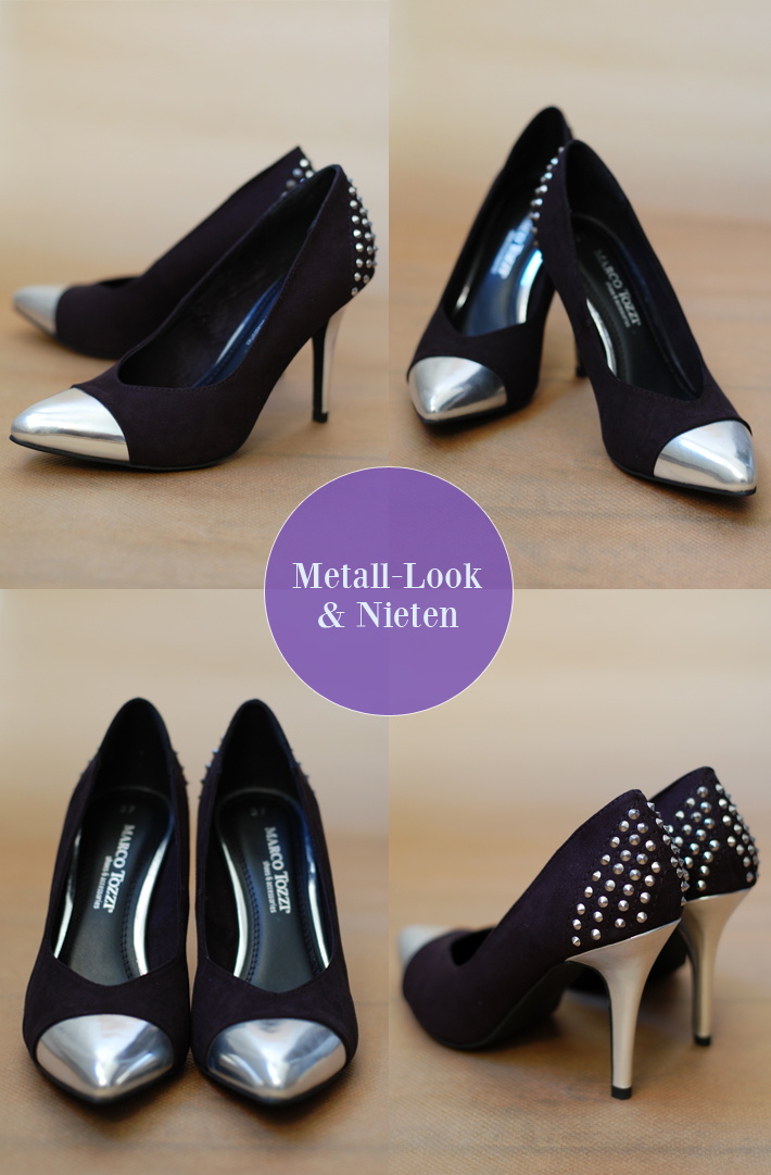 Marco Tozzi Pumps Nieten Schwarz Metall High Heels
