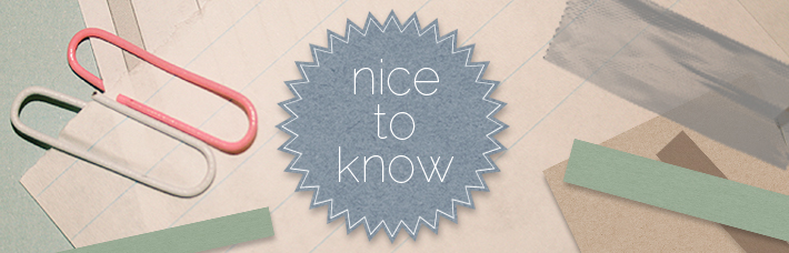 "Fashioncampus:  Rubrik ""Nice to know"""